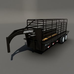 trailer cattle 3d max