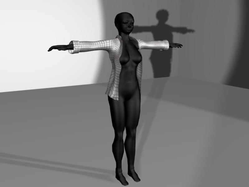 maya shirt rigged avatar