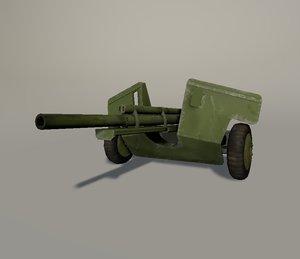 antitank gun 3d model