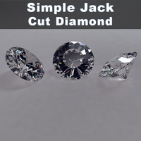 simple jack cut diamond 3d max