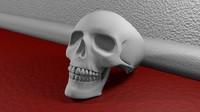 Skull Ring For 3d Printing