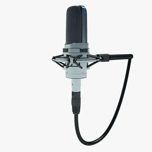 free microphone mic studio 3d model