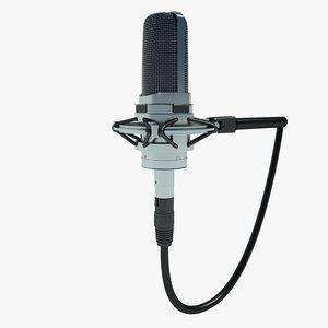 free microphone mic studio 3d model