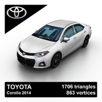 2014 toyota corolla sedan 3ds