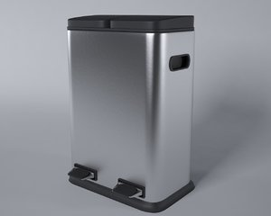 3d trash interior exterior bin
