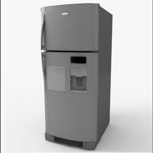 3d model of wt8907a refrigerator