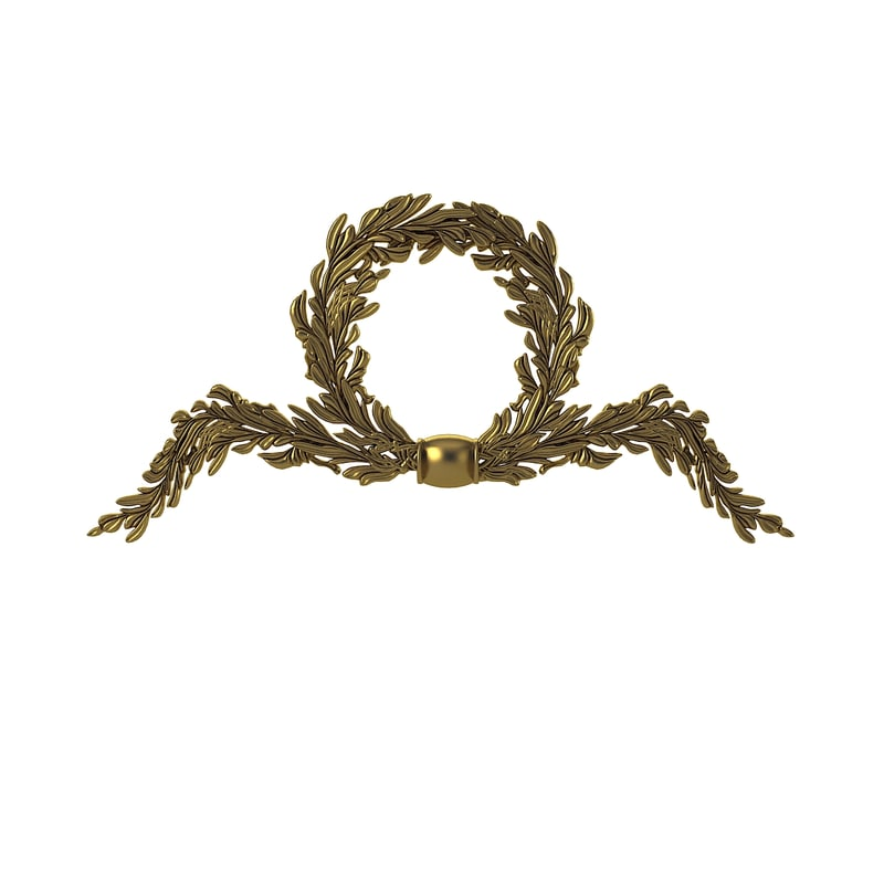 3ds max wreath carved