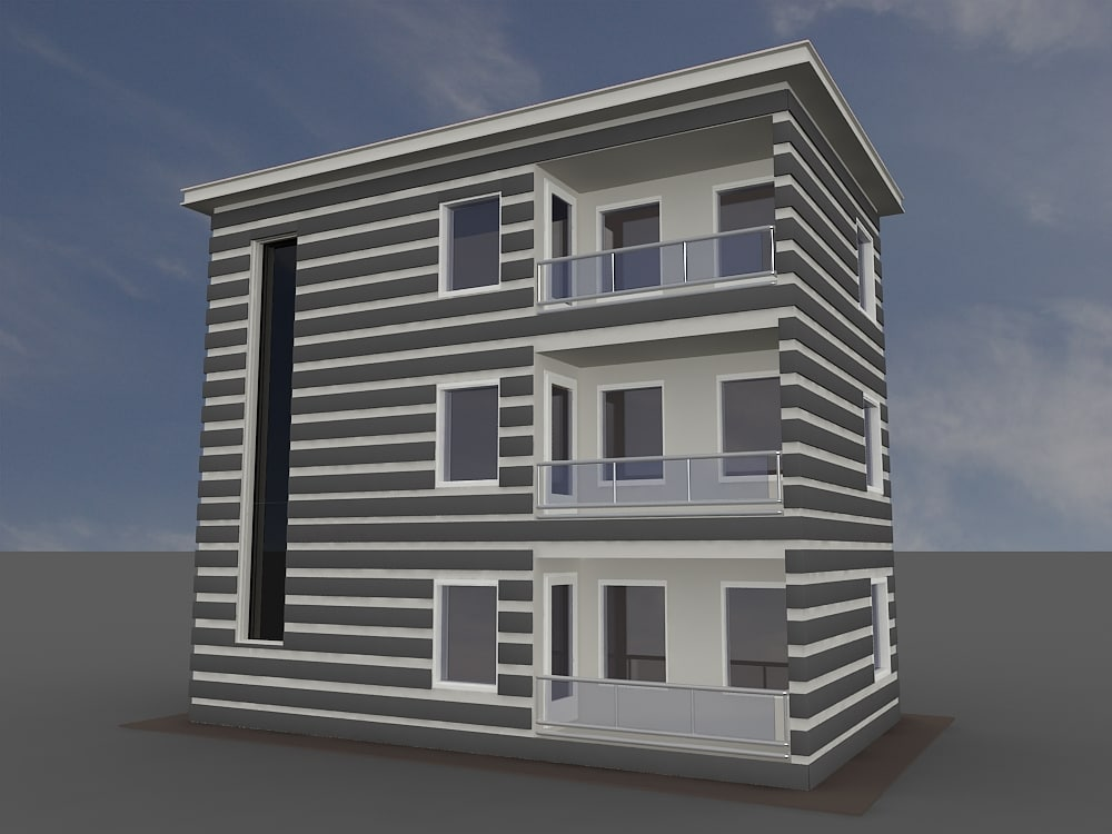 house building 3ds