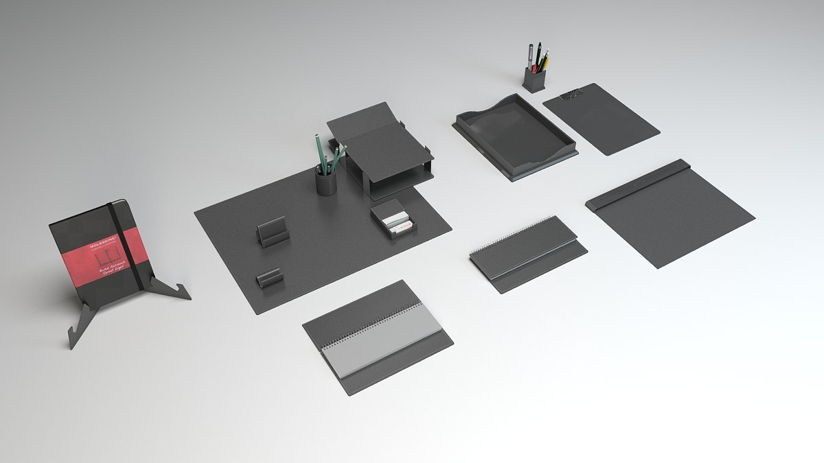3d model office set 2