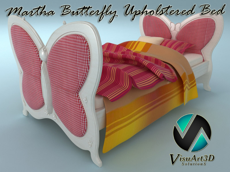 martha butterfly upholstered bed max