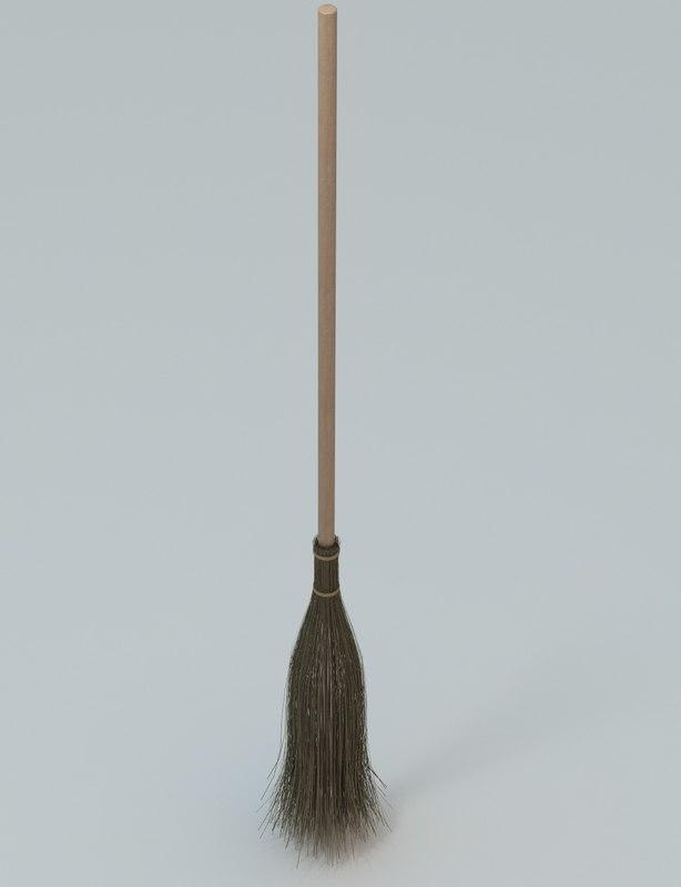 broom bristles 3d model
