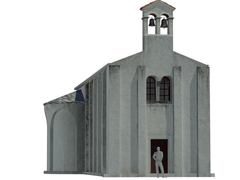 3d model church 6th century
