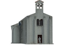 3d model church 6th century