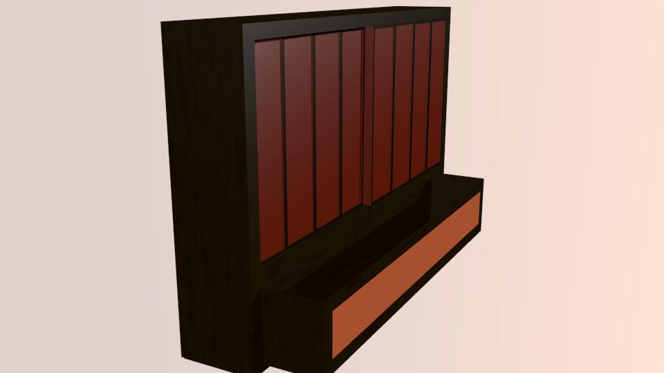 drawer asian 3d model