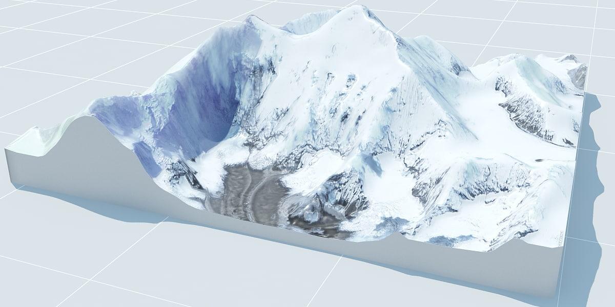 3d model landscape everest