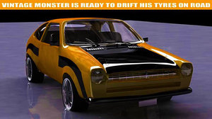 pinto car modelled ma