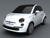 3d new fiat 500 model