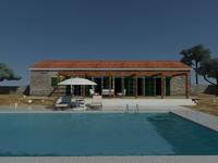 dalmatian house mediterranean pool 3d x
