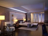 Modern hotel room. Interior scene