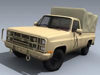 3d model army m1008 desert