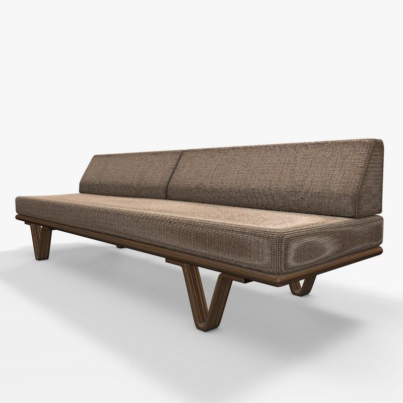 sofa contemporary dxf