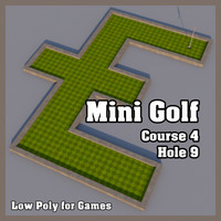 mini golf hole obj