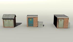 3d set substation model