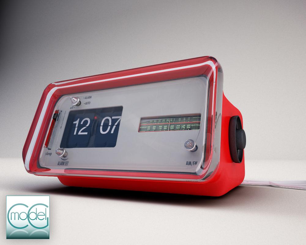 flip clock 3d