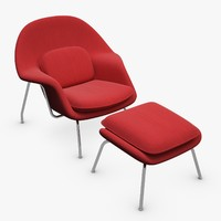 Knoll Womb Armchair with ottoman
