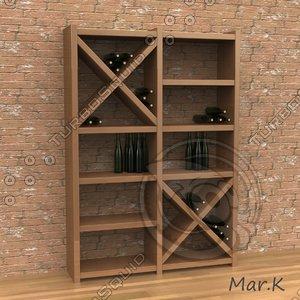 3d model of wine cabinet