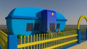 3d cartoony building set