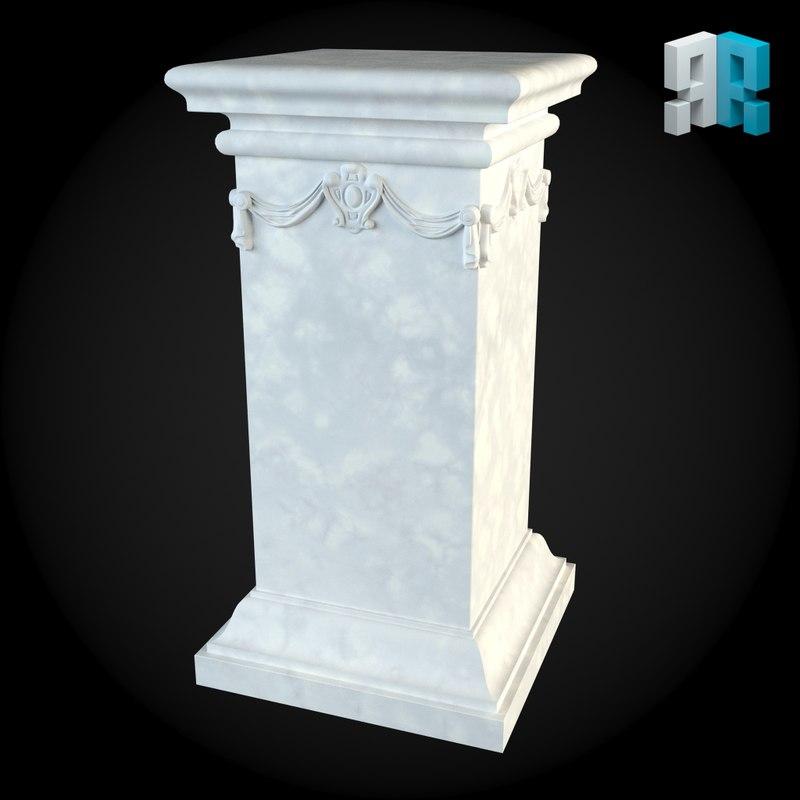 pedestal 3d max