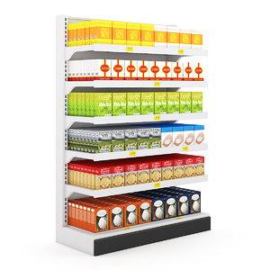 supermarket market 3d max