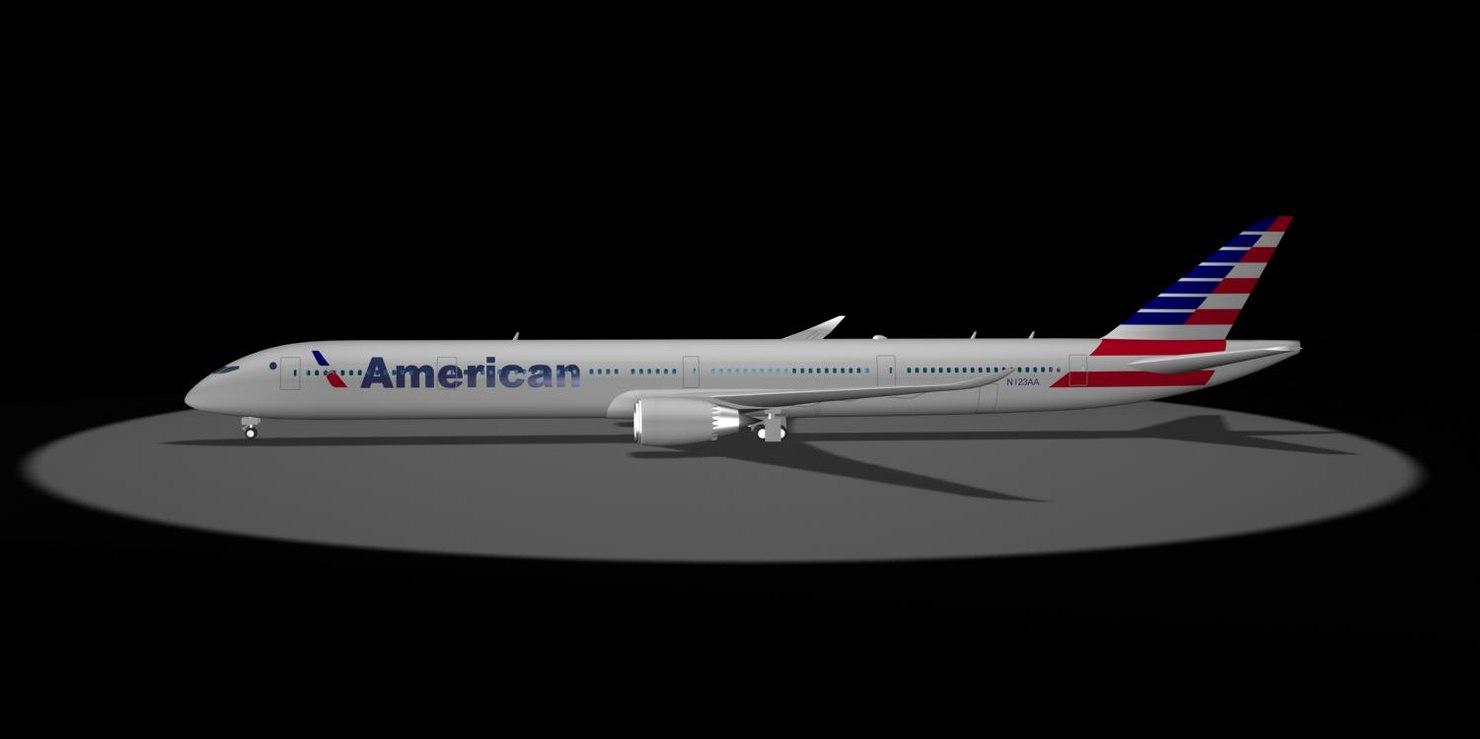 3d american airlines 787-10x dreamliner model
