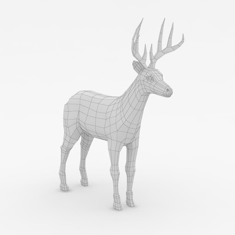 3ds max young deer