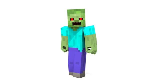 3d model minecraft zombie