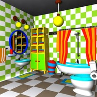 Cartoon Bathroom Interior