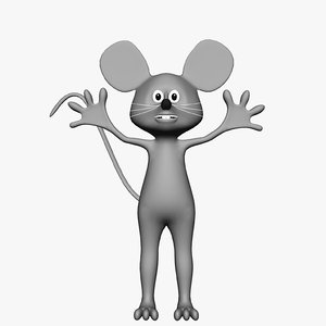 3ds max mouse animals cartoons rodent