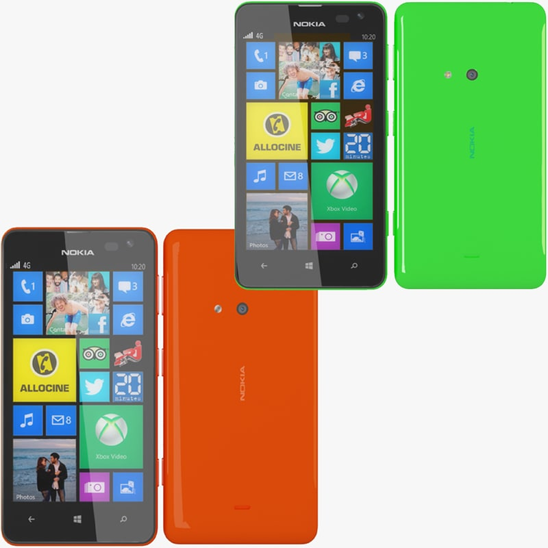 nokia lumia 625 red 3d max