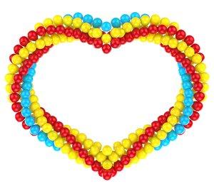 3d balloons heart