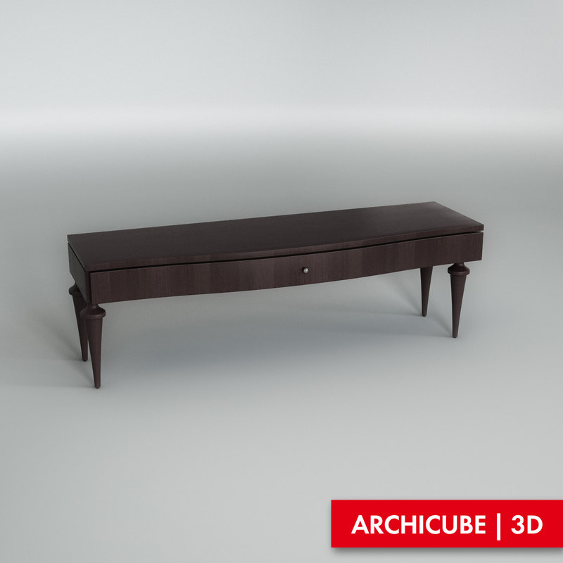 3d console table model