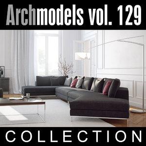 archmodels vol 129 sofas 3d model
