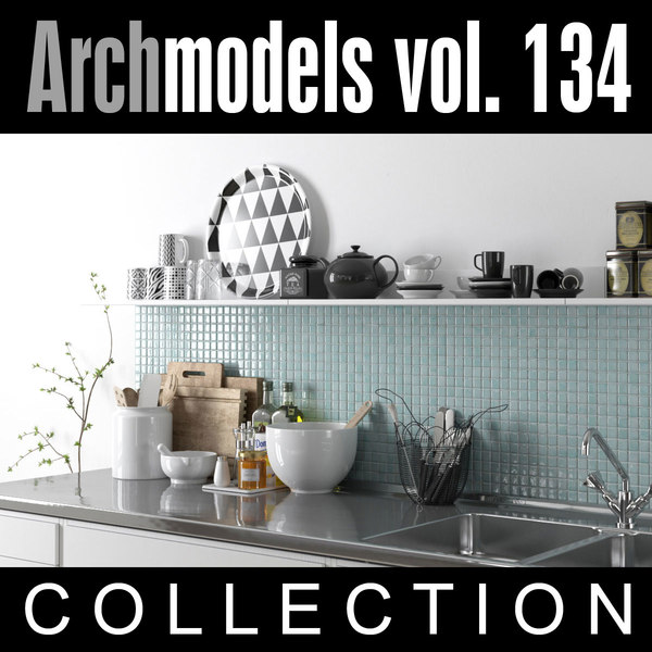 3d model archmodels vol 134