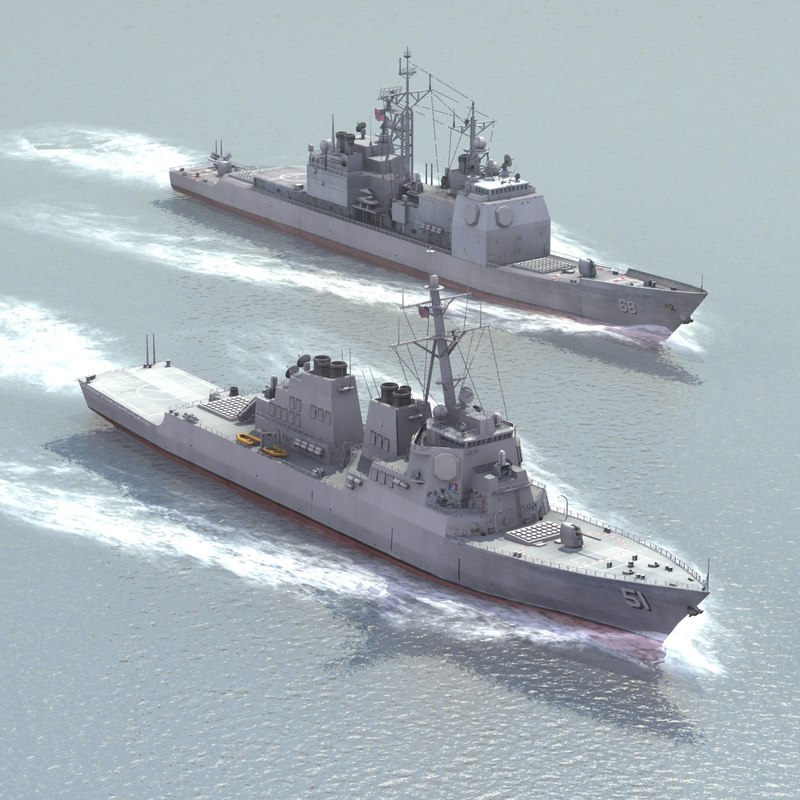ddg51 navy sets 3d model