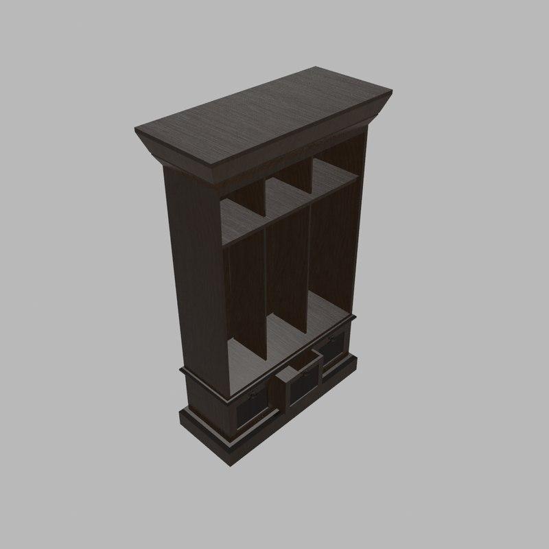 3d model of bin entry locker