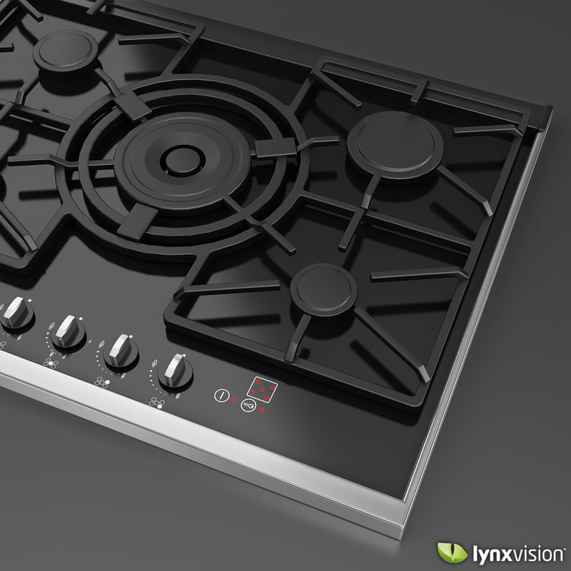 extra gas hob neff 3d model