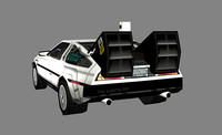 delorean 3d model