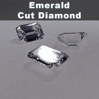 emerald cut diamond 3d model