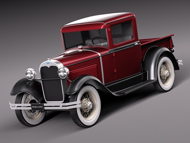 c4d car v8 antique 1930