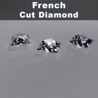 3d model french cut diamond